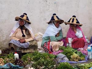 Three Ladies in Cone Hats